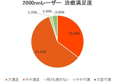 2010年 患者満足度調査(日本静脈学会・宮崎にて発表)2000nmレーザー