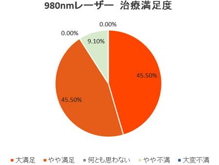 2010年 患者満足度調査(日本静脈学会・宮崎にて発表)980nmレーザー