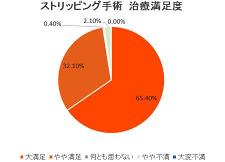 2007年 患者満足度調査(国際静脈学会・京都にて発表)ストリッピング手術(保険診療